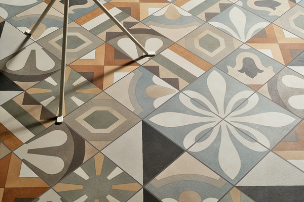 Piastrelle in gres porcellanato cementine boho di fioranese tile expert rivenditore di - Marche di piastrelle ...