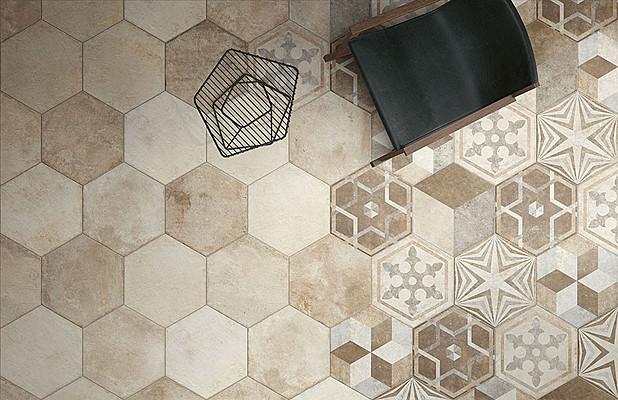 Piastrelle esagonali cucina cementine esagonali per il pavimento