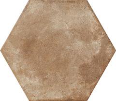 Ceramica Fioranese Heritage HE202EX_Exagona , Bathroom, Outdoors, Designer style style, Silvia Stanzani, Terracotta effect effect, PEI IV, Glazed porcelain stoneware, wall & floor, Matte surface, Slip-resistance R11, non-rectified edge, Shade variation V4