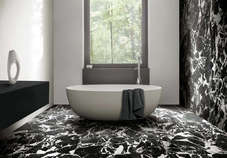 Tegels Floor Gres B&W_Marble