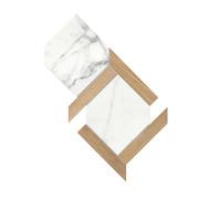 Ceramica Fondovalle Infinito 2.0 INF223_Infinito2.0MosaicoEsagonaOriginalWhiteGloss , Séjour, Salle de bain, Cuisine, Espace public, Chambre à coucher, Effet effet pierre, style Style patchwork, style Style moderne, Grès cérame non-émaillé, revêtement mur et sol, Surface mate, Surface polie, Résistance au glissement R10, Bord rectifié, Grès cérame de faible épaisseur, Variation de nuances V2