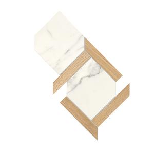 Ceramica Fondovalle Infinito 2.0 INF246_Infinito2.0MosaicoEsagonaOriginalCalacattaG , Séjour, Salle de bain, Cuisine, Espace public, Chambre à coucher, Effet effet pierre, style Style patchwork, style Style moderne, Grès cérame non-émaillé, revêtement mur et sol, Surface mate, Surface polie, Résistance au glissement R10, Bord rectifié, Grès cérame de faible épaisseur, Variation de nuances V2