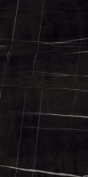 Ceramica Fondovalle Infinito 2.0 INF348_Infinito2.0SaharaNoirGlossy_160*320 , Séjour, Salle de bain, Cuisine, Espace public, Chambre à coucher, Effet effet pierre, style Style patchwork, style Style moderne, Grès cérame non-émaillé, revêtement mur et sol, Surface mate, Surface polie, Résistance au glissement R10, Bord rectifié, Grès cérame de faible épaisseur, Variation de nuances V2