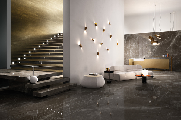 Pietra Grey Porcelain Tiles by Graniti Fiandre. Tile.Expert ...