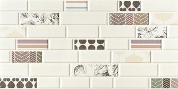 Imola Ceramica Mash-up MASH-BRICKMIX36 , Bathroom, Brick effect effect, Fabric (wallpaper) effect effect, Pop-art style style, Ceramic Tile, wall, Matte surface, Rectified edge, Shade variation V1