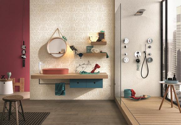 Piastrelle in ceramica couture di impronta tile expert