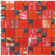 Intermatex Carnaval Mosaic Carnaval Red_30*30 , Bathroom, Kitchen, wall, Glossy surface, non-rectified edge
