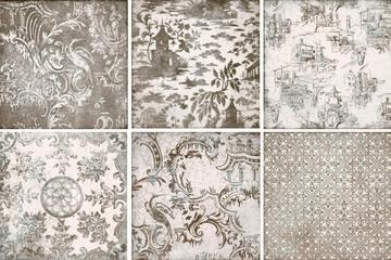 Iris Ceramica Maiolica 563213_OrnamentaGrigio , Spazi pubblici, Bagno, Ceramica, rivestimento, Superficie lucida, bordo non rettificato