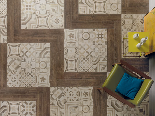 Piastrelle in gres porcellanato cementine di keope. tile.expert