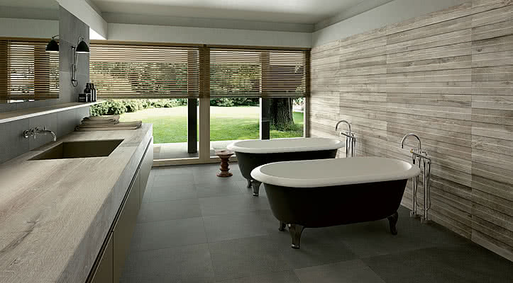 Piastrelle in gres porcellanato wood side di kronos tile expert