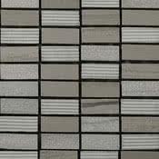 Linea Italia Le Acque Forti STAFMO/1230_EngravedStoneInWoodenMoca_12*30*10Mm , Salle de bain, Pierre naturelle, revêtement mural, Surface mate, bord non rectifié