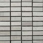 Linea Italia Le Acque Forti STAFWH/1230_EngravedStoneInWoodenWhite_12*30*10Mm , Salle de bain, Pierre naturelle, revêtement mural, Surface mate, bord non rectifié