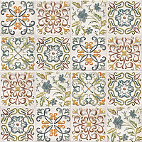 Mainzu Ceramica Calabria CALABRIA DECOR BAMBOLA 15x15 , Living room, Kitchen, Patchwork style style, Handmade style style, Ceramic Tile, wall, Glossy surface, non-rectified edge