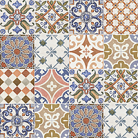 Mainzu Ceramica Calabria CALABRIA DECOR REGIONALE 15x15 , Living room, Kitchen, Patchwork style style, Handmade style style, Ceramic Tile, wall, Glossy surface, non-rectified edge