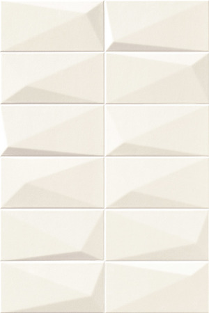 Mainzu Ceramica Diamond DIAMOND ARTIC 10x20 , 3D effect effect, Unicolor, Patchwork style style, Ceramic Tile, wall, Glossy surface, Non-rectified edge