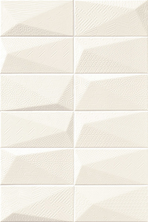 Mainzu Ceramica Diamond DIAMOND FANCY ARTIC 10x20 , 3D effect effect, Unicolor, Patchwork style style, Ceramic Tile, wall, Glossy surface, Non-rectified edge