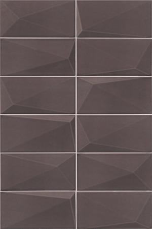 Mainzu Ceramica Diamond DIAMOND GRAPHITE 10x20 , 3D effect effect, Unicolor, Patchwork style style, Ceramic Tile, wall, Glossy surface, Non-rectified edge