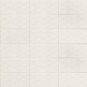 Mainzu Ceramica Fabric FABRIC WHITE 10x20 , Bathroom, Patchwork style style, Fabric effect effect, Ceramic Tile, wall, Matte surface, Non-rectified edge