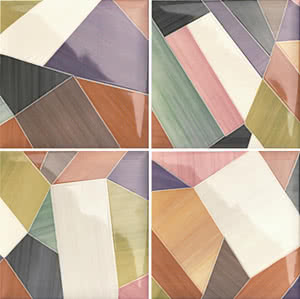 Mainzu Ceramica Lucciola Decor Fragment 20x20 , Patchwork style style, Kitchen, Public spaces, Bathroom, Ceramic Tile, wall, Glossy surface, non-rectified edge
