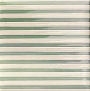Mainzu Ceramica Lucciola Decor Stripe Green 20x20 , Patchwork style style, Kitchen, Public spaces, Bathroom, Ceramic Tile, wall, Glossy surface, non-rectified edge