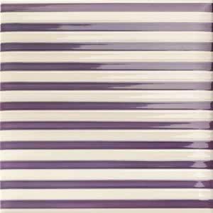 Mainzu Ceramica Lucciola Decor Stripe Viola 20x20 , Patchwork style style, Kitchen, Public spaces, Bathroom, Ceramic Tile, wall, Glossy surface, non-rectified edge