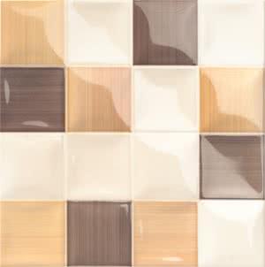 Mainzu Ceramica Lucciola Volumen Lucciola Cafe 20x20 , Patchwork style style, Kitchen, Public spaces, Bathroom, Ceramic Tile, wall, Glossy surface, non-rectified edge