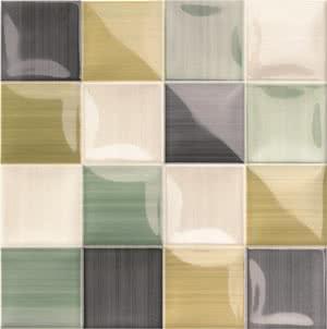 Mainzu Ceramica Lucciola Volumen Lucciola Green 20x20 , Patchwork style style, Kitchen, Public spaces, Bathroom, Ceramic Tile, wall, Glossy surface, non-rectified edge