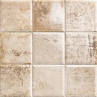Mainzu Ceramica Tin Tile TIN-TILE CREAM 20x20 , Kitchen, Bathroom, Public spaces, Patchwork style style, aged effect effect, Metal effect effect, Ceramic Tile, wall, Glossy surface, Non-rectified edge
