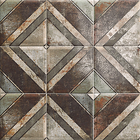 Mainzu Ceramica Tin Tile TIN-TILE DIAGONAL 20x20 , Kitchen, Bathroom, Public spaces, Patchwork style style, aged effect effect, Metal effect effect, Ceramic Tile, wall, Glossy surface, Non-rectified edge