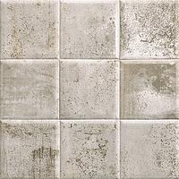Mainzu Ceramica Tin Tile TIN-TILE GREY 20x20 , Kitchen, Bathroom, Public spaces, Patchwork style style, aged effect effect, Metal effect effect, Ceramic Tile, wall, Glossy surface, Non-rectified edge