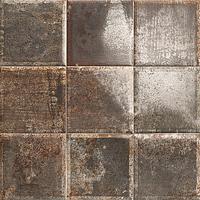 Mainzu Ceramica Tin Tile TIN-TILE NERO 20x20 , Kitchen, Bathroom, Public spaces, Patchwork style style, aged effect effect, Metal effect effect, Ceramic Tile, wall, Glossy surface, Non-rectified edge