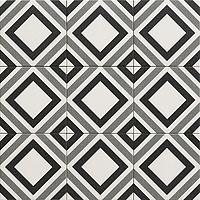 Tile BELFAST BLACK,faux encaustic tiles Effect