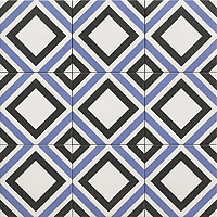 Tile BELFAST BLU,faux encaustic tiles Effect