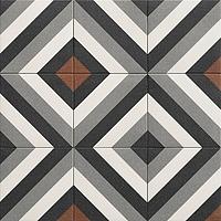 Tile DUBLIN BLACK,faux encaustic tiles Effect