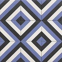 Tile DUBLIN BLU,faux encaustic tiles Effect