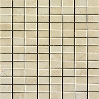 Marazzi Evolutionmarble MK0E_300X300Mos.Nat.G.Cream , Living room, Bathroom, Bedroom, Stone effect effect, Unglazed porcelain stoneware, Ceramic Tile, wall & floor, Polished surface, Matte surface, Rectified edge, Non-rectified edge