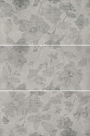 Mo.da Ceramica Over OVER INSERTO PENSIERI SILVER 1/2/3 30x60 , Chambre à coucher, style Style patchwork, Effet effet béton, Grès cérame non-émaillé, revêtement mur et sol, Surface mate, Bord rectifié