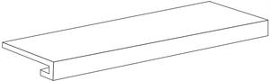 Mo.da Ceramica Over OVER SILVER GRADONE COSTA RETTA 33x60 , Chambre à coucher, style Style patchwork, Effet effet béton, Grès cérame non-émaillé, revêtement mur et sol, Surface mate, Bord rectifié