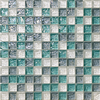 Mosaico piu Onde CR.0A61_23X23x8 , Bathroom, Living room, Kitchen, Avant-garde style style, Mother-of-pearl effect effect, wall, Glossy surface, non-rectified edge