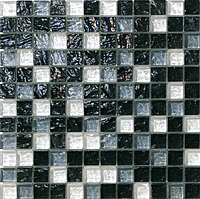 Mosaico piu Onde CR.0A62_23X23x8 , Bathroom, Living room, Kitchen, Avant-garde style style, Mother-of-pearl effect effect, wall, Glossy surface, non-rectified edge
