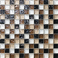 Mosaico piu Onde CR.0A66_23X23x8 , Bathroom, Living room, Kitchen, Avant-garde style style, Mother-of-pearl effect effect, wall, Glossy surface, non-rectified edge