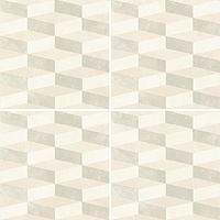 Mutina Ceramiche & Design Azulej PUA15_AzulejCuboBianco20X20 , Kitchen, Living room, Public spaces, Bathroom, Patchwork style style, Designer style style, Patricia Urquiola, Faux encaustic tile effect, Concrete effect effect, Glazed porcelain stoneware, wall & floor, Matte surface, Rectified edge, Shade variation V2