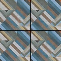 Mutina Ceramiche & Design Azulej PUA26_AzulejPrataGrigio20X20 , Cuisine, Séjour, Espace public, Salle de bain, style Style patchwork, style Style designer, Patricia Urquiola, Effet imitation carreaux de ciment, Effet effet béton, Grès cérame émaillé, revêtement mur et sol, Surface mate, Bord rectifié, Variation de nuances V2