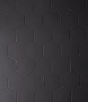 Mutina Ceramiche & Design Phenomenon TYPHX06_HegsagonNero_16,5*14,5 , Designer style style, Tokujin Yoshioka, Unicolor, 3D effect effect, Living room, Unglazed porcelain stoneware, wall & floor, Matte surface, non-rectified edge