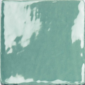 Natucer Stow STOW ACQUA 10 x 10 , Bathroom, Ceramic Tile, wall, Glossy surface, Uneven edge, Shade variation V4