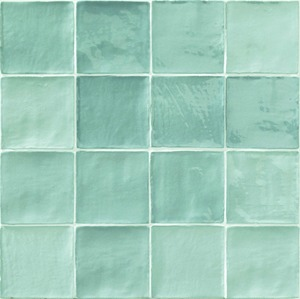 Natucer Stow STOW MIX ACQUA 10 x 10 , Bathroom, Ceramic Tile, wall, Glossy surface, Uneven edge, Shade variation V4