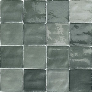 Natucer Stow STOW MIX GREY 10 x 10 , Bathroom, Ceramic Tile, wall, Glossy surface, Uneven edge, Shade variation V4