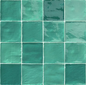 Natucer Stow STOW MIX TURCHESE 10 x 10 , Bathroom, Ceramic Tile, wall, Glossy surface, Uneven edge, Shade variation V4