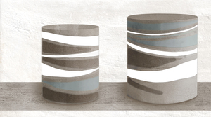Novogres Novaterra Decor Block , Bathroom, Patchwork style style, Concrete effect effect, Glazed porcelain stoneware, wall & floor, Matte surface, Non-rectified edge, Shade variation V4