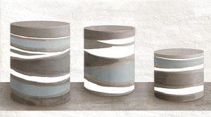 Novogres Novaterra Decor Bottle , Bathroom, Patchwork style style, Concrete effect effect, Glazed porcelain stoneware, wall & floor, Matte surface, Non-rectified edge, Shade variation V4